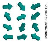 arrows set | Shutterstock .eps vector #137981114