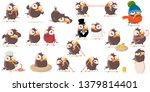 funny cartoon bird clip art... | Shutterstock .eps vector #1379814401