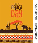 africa day greeting card... | Shutterstock .eps vector #1379817227