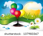 balloons landscape | Shutterstock .eps vector #137983367