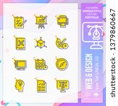 web   design icon set with... | Shutterstock .eps vector #1379860667