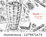 doner kebab cooking and... | Shutterstock .eps vector #1379871674