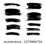 brush lines set. vector... | Shutterstock .eps vector #1379886734