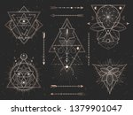vector set of sacred triangle... | Shutterstock .eps vector #1379901047