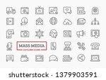 mass media icons design. vector ...   Shutterstock .eps vector #1379903591
