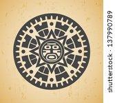 Abstract Stylized Maya Sun...