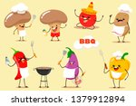 barbecue  vegetable vector set... | Shutterstock .eps vector #1379912894