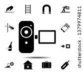 video camera icon. simple glyph ...