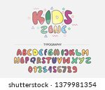 vector of colorful font in the... | Shutterstock .eps vector #1379981354