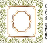 frame with foliage isolated icon | Shutterstock .eps vector #1379982491