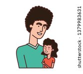 father with daughter avatar... | Shutterstock .eps vector #1379983631