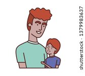 father with son avatar character | Shutterstock .eps vector #1379983637