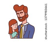 father with daughter avatar... | Shutterstock .eps vector #1379983661