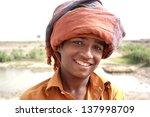Portrait Of Boy Wearing Turban