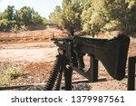 hand machine gun M60 Machinegun. Cu Chi Tunnel, Ho Chi Minh City, Vietnam