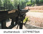 hand machine gun M60 Machinegun. Cu Chi Tunnel, Ho Chi Minh City, Vietnam