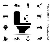 toilet trash icon. simple glyph ...