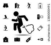 man fart icon. simple glyph ...