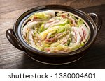 layered pot of pork and chinese ... | Shutterstock . vector #1380004601