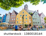 fussen  germany   aug 28  2018  ...   Shutterstock . vector #1380018164