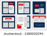 editable modern minimal square...   Shutterstock .eps vector #1380020294