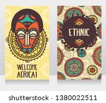 two banners with traditional... | Shutterstock .eps vector #1380022511