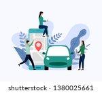 car sharing service  mobile... | Shutterstock .eps vector #1380025661