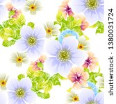 flower print. elegance seamless ... | Shutterstock . vector #1380031724