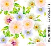 flower print. elegance seamless ... | Shutterstock . vector #1380031841