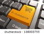 orange e commerce button on... | Shutterstock . vector #138003755