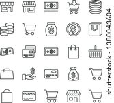thin line vector icon set  ... | Shutterstock .eps vector #1380043604