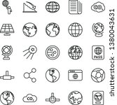 thin line vector icon set  ... | Shutterstock .eps vector #1380043631