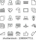 thin line vector icon set  ...   Shutterstock .eps vector #1380047711