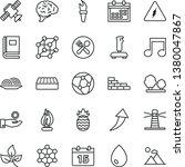 thin line vector icon set  ... | Shutterstock .eps vector #1380047867
