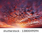 unusual storm clouds at sunset. ... | Shutterstock . vector #1380049094