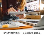 digital marketing media in... | Shutterstock . vector #1380061061