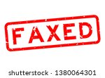 grunge red faxed word square... | Shutterstock .eps vector #1380064301