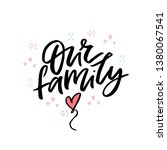 our family flat vector... | Shutterstock .eps vector #1380067541