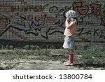 the small lonely girl without... | Shutterstock . vector #13800784