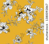 floral seamless pattern with... | Shutterstock .eps vector #1380092867