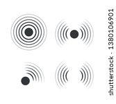 Radar icons. Sonar sound waves. Vector illustration