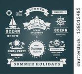 retro summer design elements.... | Shutterstock .eps vector #138012485