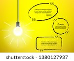 light bulb and idea quote on... | Shutterstock .eps vector #1380127937
