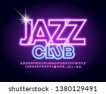 vector neon glowing sign jazz... | Shutterstock .eps vector #1380129491