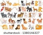 set of pet character... | Shutterstock .eps vector #1380146327