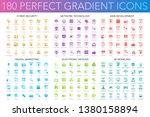 180 trendy perfect gradient... | Shutterstock .eps vector #1380158894