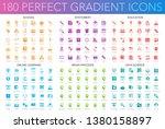 180 trendy perfect gradient... | Shutterstock .eps vector #1380158897