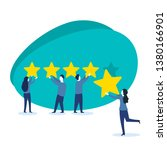 people holding stars and... | Shutterstock .eps vector #1380166901