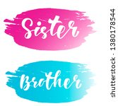 sister brother   hand lettering ... | Shutterstock .eps vector #1380178544