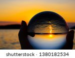 lens ball in front of beautiful ...   Shutterstock . vector #1380182534